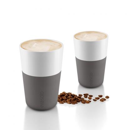 Café Latte Tassen Grijs
