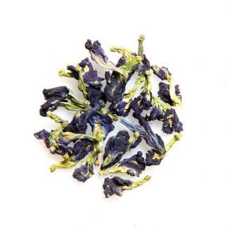 Yummitea Blue Butterfly Pea - Cafeïne-vrije kittelbloem met natuurlijke blauwe kleur bij contact met water