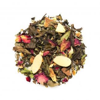 Yummitea Cinnamon Rose -Witte Bai Mu Dan thee met kaneel sinaasappel, amandel, rozen & appel - Witte Bai Mu Dan kerstthee met kaneel sinaasappel, amandel, rozen & appel