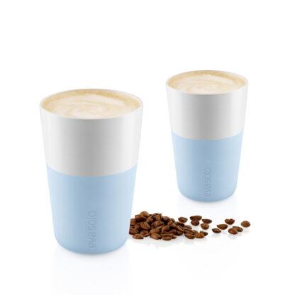 Café Latte Tassen Lichtblauw