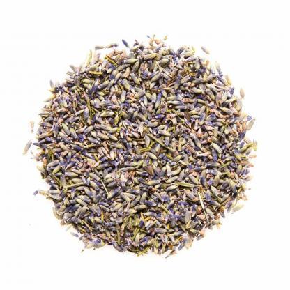 Yummitea French Lavender Flowers - Pure lavendelbloesems met lichtzoete smaak om tot rust te komen. Lavendelthee helpt bij verkoudheid, een vervelende hoest & huidproblemen.