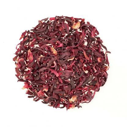 Yummitea Pure Hibiscus -Biologische dieprode & ontgiftende thee van de bloem van de rozenplant