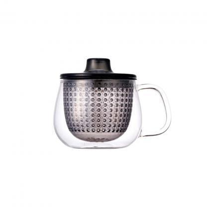 Kinto unimug theetas met grijze filter 350ml voor losse thee