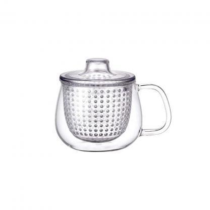 Kinto unimug theetas met transparante filter 350ml voor losse thee