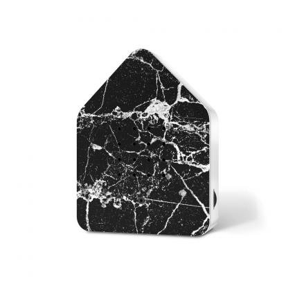 zwitscherbox marmer zwart voorkant