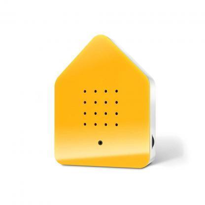 zwitscherbox geel voorkant