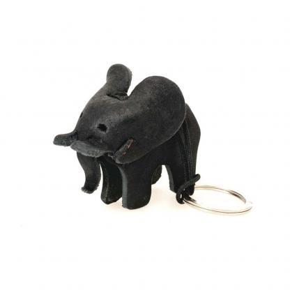 sleutelhanger olifant leder zwart izindlovu