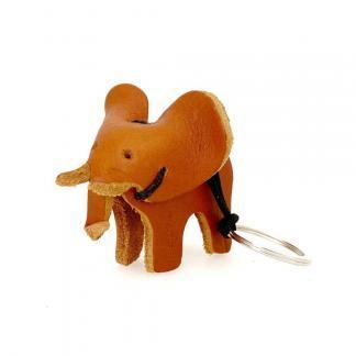 sleutelhanger olifant leder bruin izindlovu