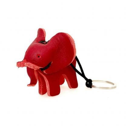 sleutelhanger olifant leder rood izindlovu