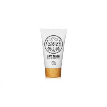 I Love Eco Essentiels handcrèmemet ECOCERT label en kruidige geur.