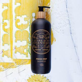 I Love Eco Essentiels shampoo met ECOCERT label met houtachtige geur