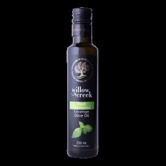 Willow Creek basilicum gearomatiseerde olijfolie bij tomaten & ricotta