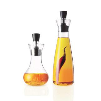 Olie en azijn karaf 500ml en dressing shaker 250ml set, mooi als geschenk