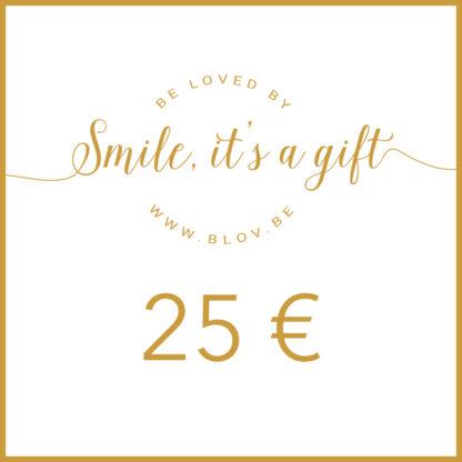 Cadeaubon 25€ zodat de ontvanger zelf items kan kiezen uit de webshop