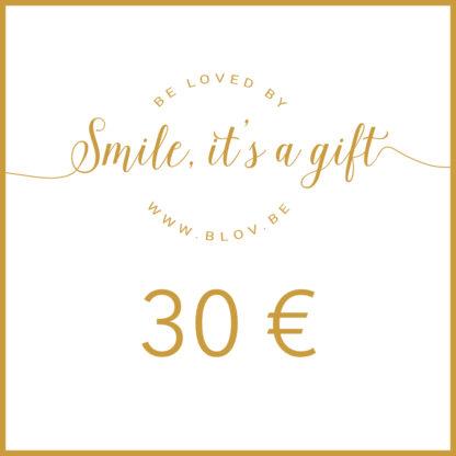 Cadeaubon 30€ zodat de ontvanger zelf items kan kiezen uit de webshop