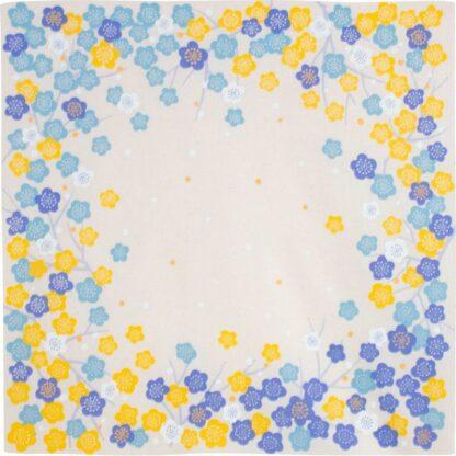 BLØV blov.be Furoshiki Japanese Apricot Blauw/Geel S