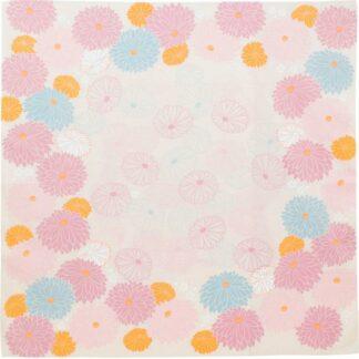BLØV blov.be Furoshiki Chrysanthemum Paars XL - 100x100cm bio voor groter geschenk