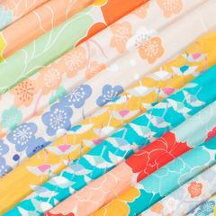 BLØV blov.be Furoshiki Peony Roze XL - 100x100cm voor grote geschenken of draagtas