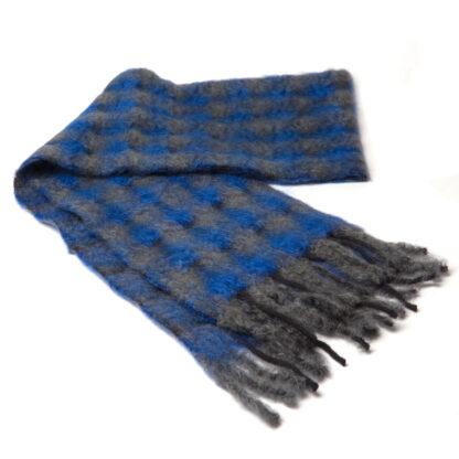 Mohair Sjaal Mia BlauwGrijs met extra fijne merino wol en Ecotex label