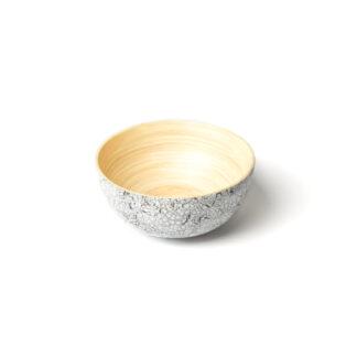 Bamboe Kom Eischaal Tien M 14cm - handwerk, dat elk stuk uniek maakt
