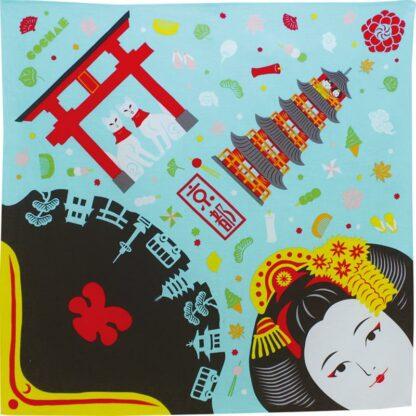 BLØV blov.be - Furoshiki Kyoto Lichtblauw S - 48x48cm voor kleine geschenkjes