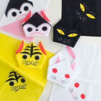 BLØV blov.be Kawaii Origami Konijn Wit S - 35x35cm handpop of inpak voor geschenkje