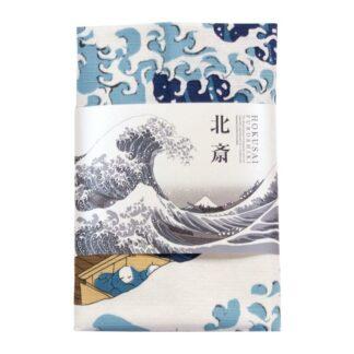 """Furoshiki """"De Grote Golf bij Kanagawa"""" XL"""