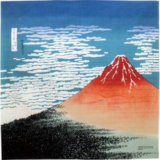 BLØV blov.be Furoshiki Rode Fuji XL - 104x104cm als cadeauverpakking, tas of rugzak