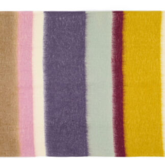 Mohair Plaid Matisse Paars/Oker, thermo & Ecotex label