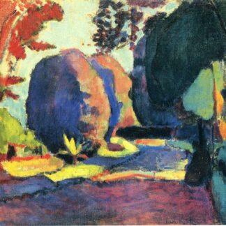 "Mohair Sjaal Matisse ""Le Jardin du Luxembourg"" turkoois, Ecotex label"