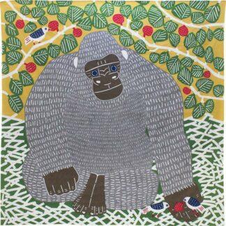 BLØV blov.be Furoshiki Gorilla Groen XL - 104x104cm voor picknick of rugzak