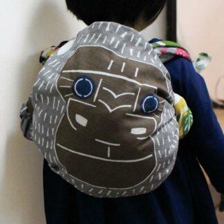 Furoshiki Gorilla Groen XL - 104x104cm voor picknick of rugzak