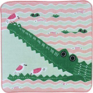 Fluffy Handdoekje Krokodil Roze