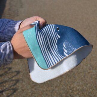 Fluffy Handdoekje Walvis Blauw