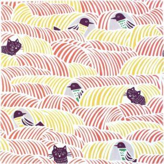 Furoshiki Kat & Vogel Roze S