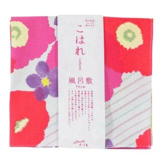 Furoshiki Bloemen Rood/Paars M