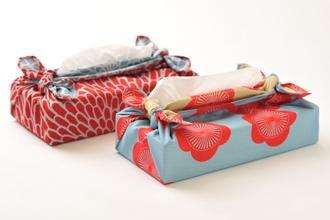 Furoshiki Dubbelzijdig Kersenbloesem Roze/Mosterdgeel S