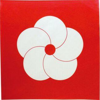 Furoshiki Pruimenbloesem Rood/Wit M