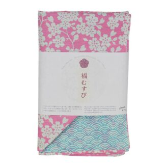 Furoshiki Dubbelzijdig Kersenbloesem & Golf Roze/Blauw XL