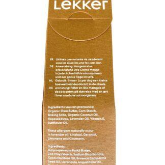 BLØV blov.be Lekker Deodorant Crème Lavendel : bloemige geur van Franse lavendel
