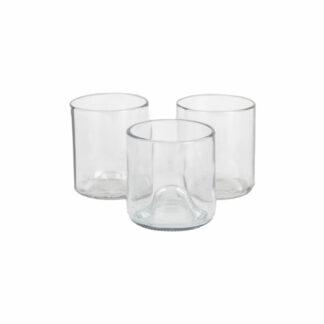 Glazen Upcycled Transparant S (set van 2)