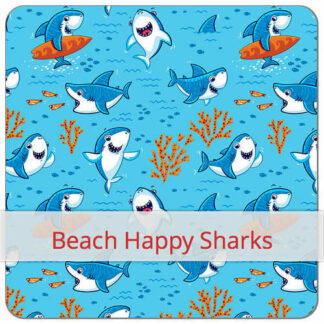 Beach Happy Sharks Print BLØV blov.be