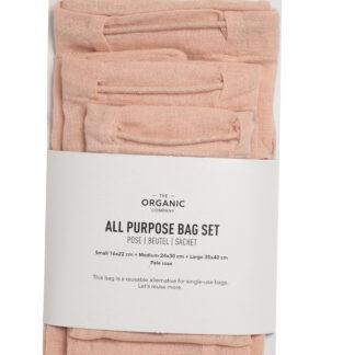 BLØV herbruikbare bewaarzak roze set