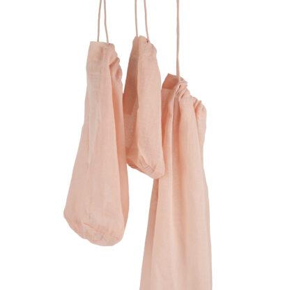 herbruikbare bewaarzak roze set
