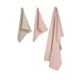 Set Handdoek en Afwasdoekjes Floral BLØV