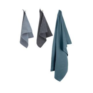 Set Handdoek en Afwasdoekjes Ocean BLØV